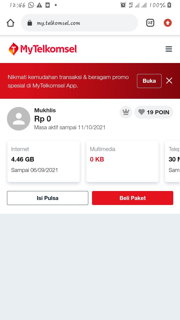 Cek Poin Website MyTelkomsel