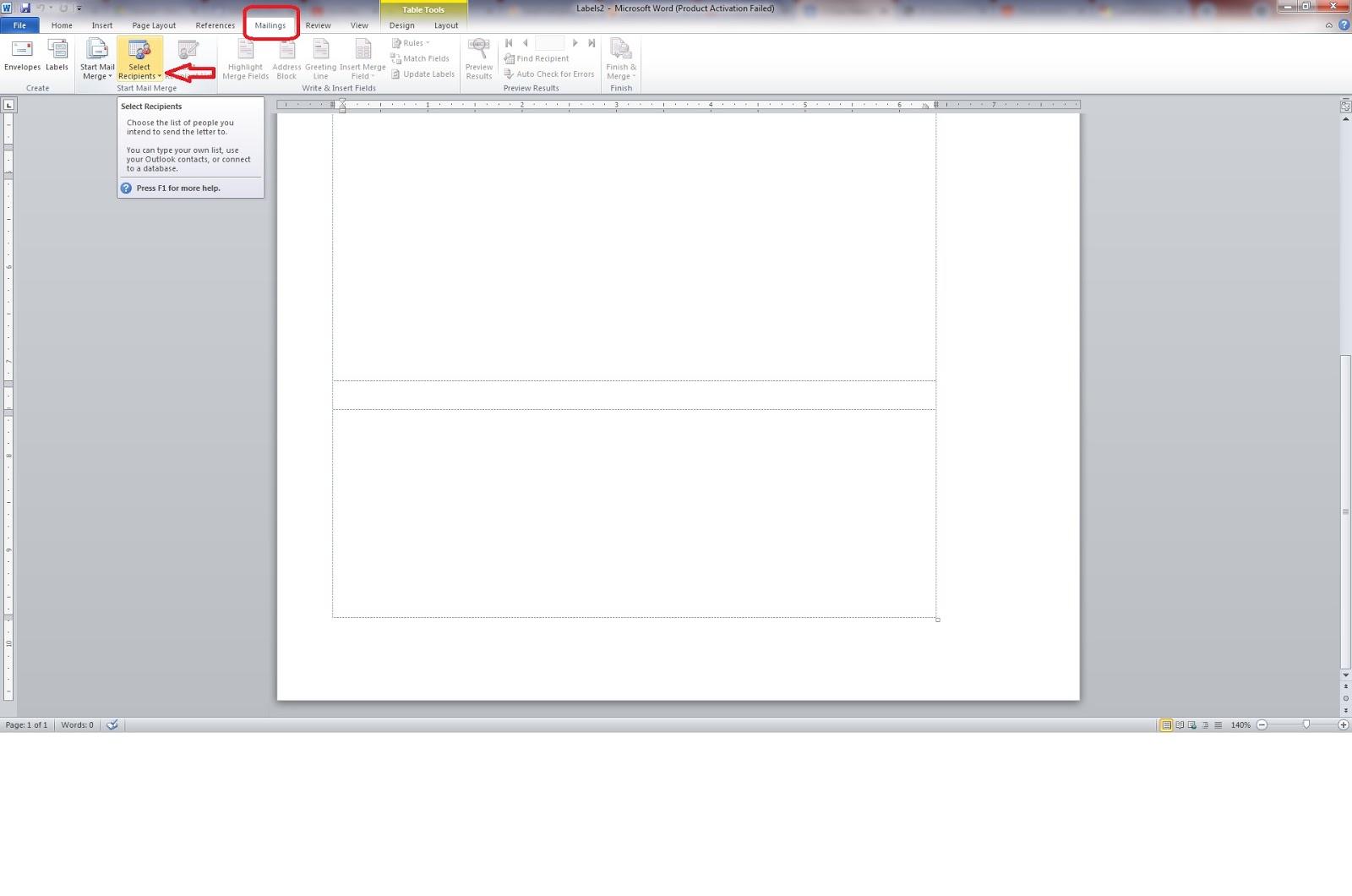 Integrasi Data Excel & Word