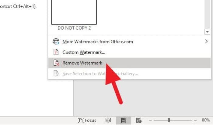 Menu Remove Watermark