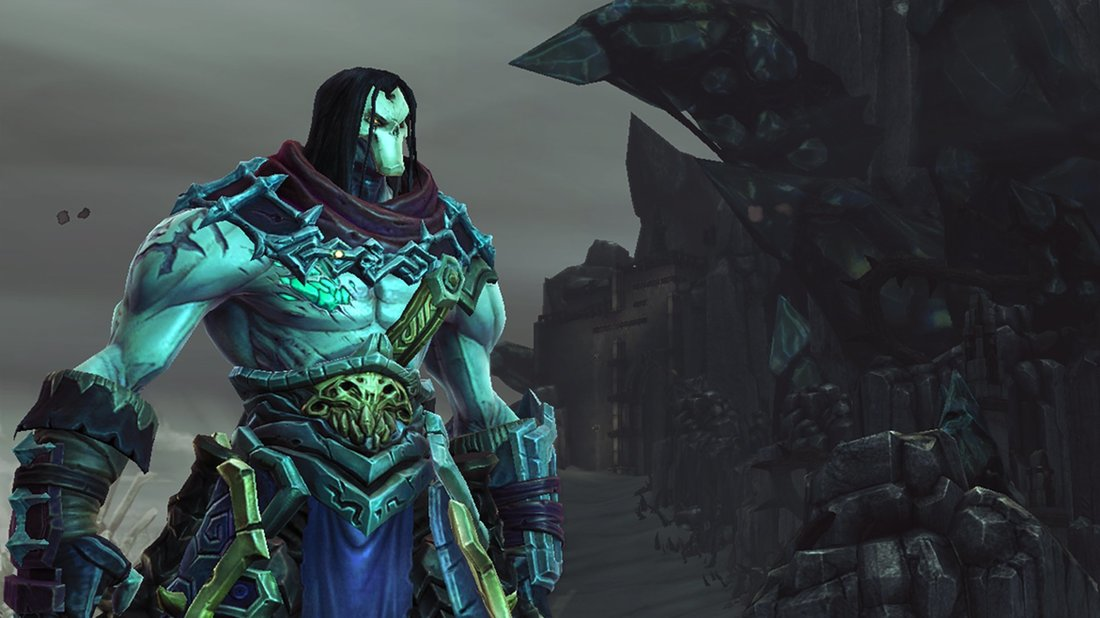 Darksiders 2: Deathinitive Edition - Death is the most feared of the Four Horsemen, and dresses accordingly; wild hairstyle and all.