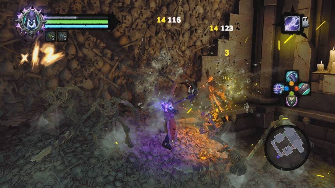 Darksiders 2: Deathinitive Edition - The higher your combo-meter goes, the more mana, er, Wrath you recover, allowing you to employ various special abilities to keep Death on his feet and your enemies off theirs.