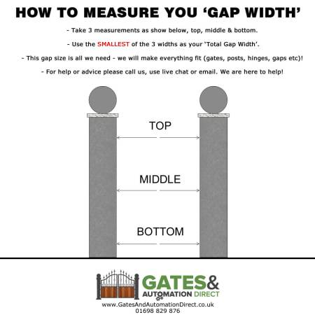 how to measure metal path gate