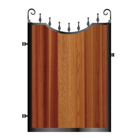 Metal and timber garden gate i