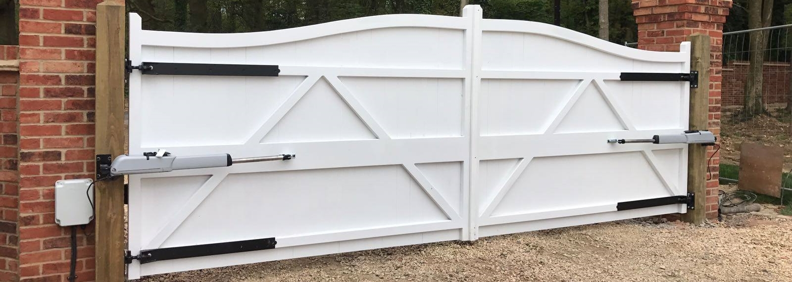 White Wooden Gates