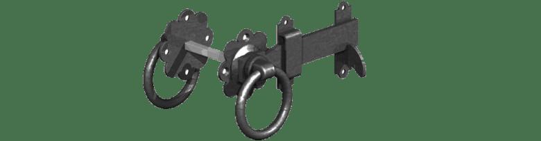 Gate ring latch in black