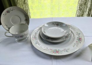 Thumbnail for the post titled: Florenteen Fine China- 5 Piece Place Setting