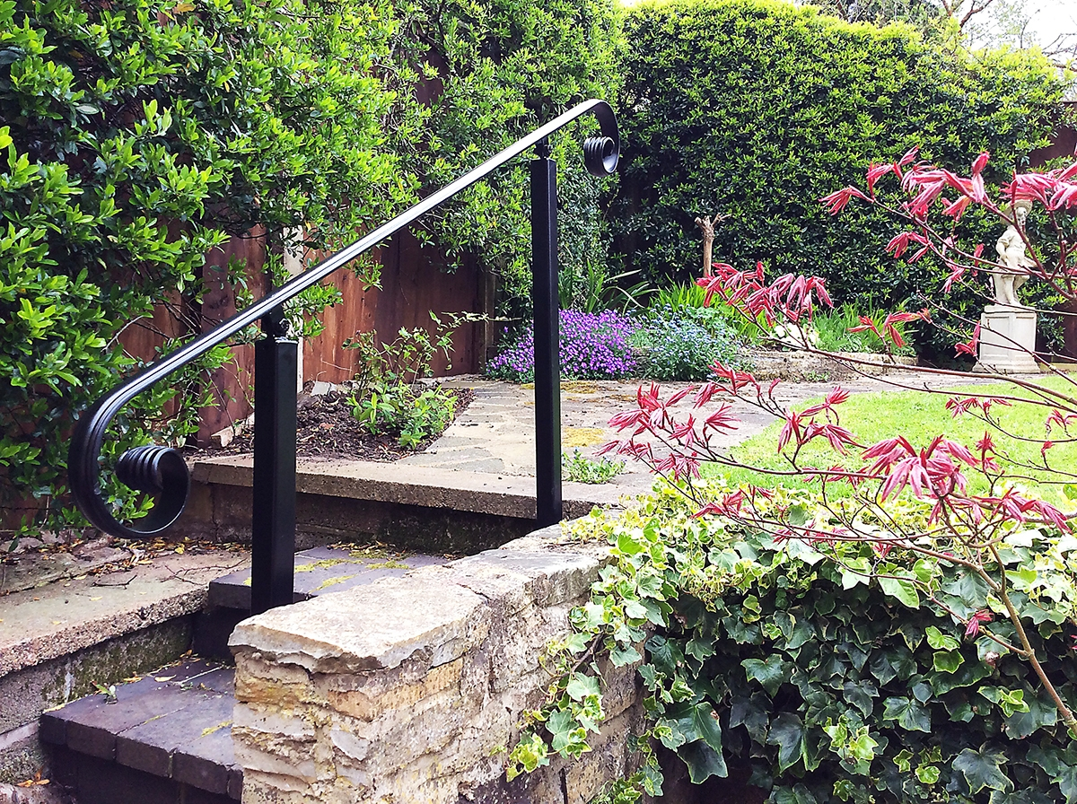 Wrought Iron Handrails Metal Handrails   Wrought Iron Hand Railing For Steps