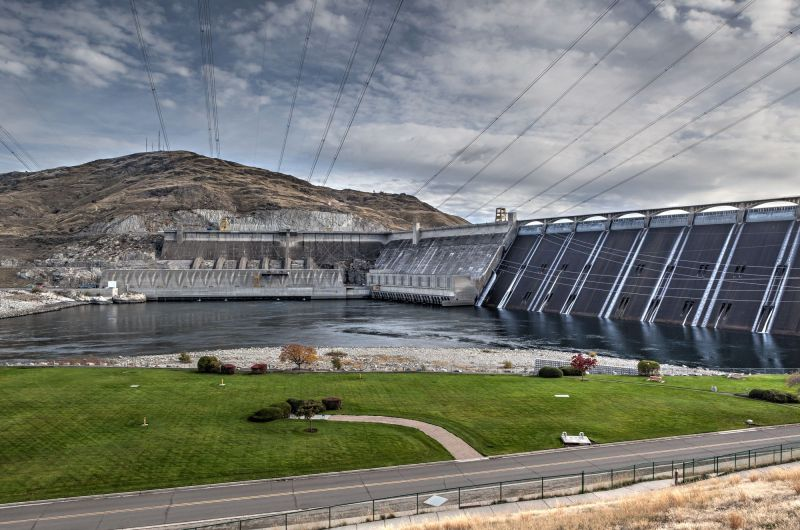 Grand Coulee Dam view from Visitor Center