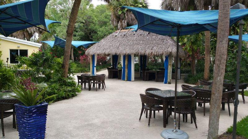 Outside seating Area and Tiki