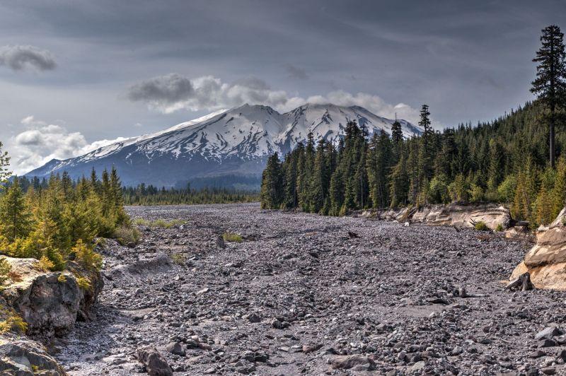 Lava Canyon and Mount Saint Helens