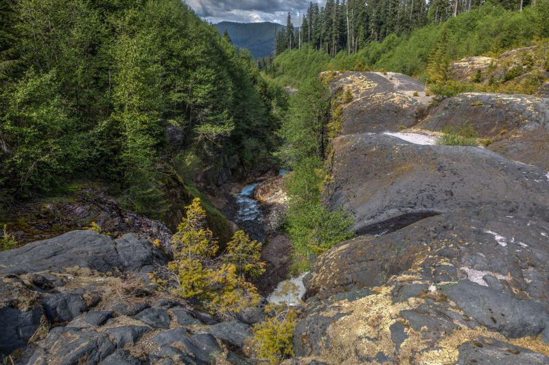 Muddy River and Waterfall