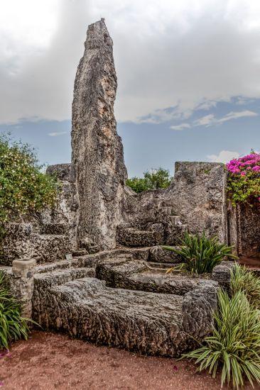 Coral Castle Obelisk