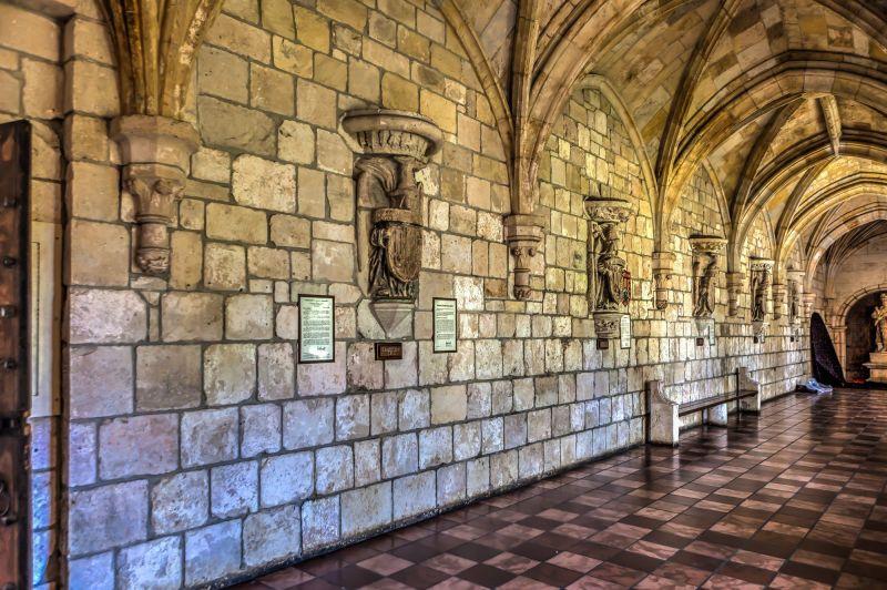 Hallway inside the Ancient Spanish Monastery