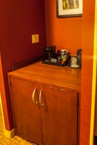 Coffee Maker and Refrigerator