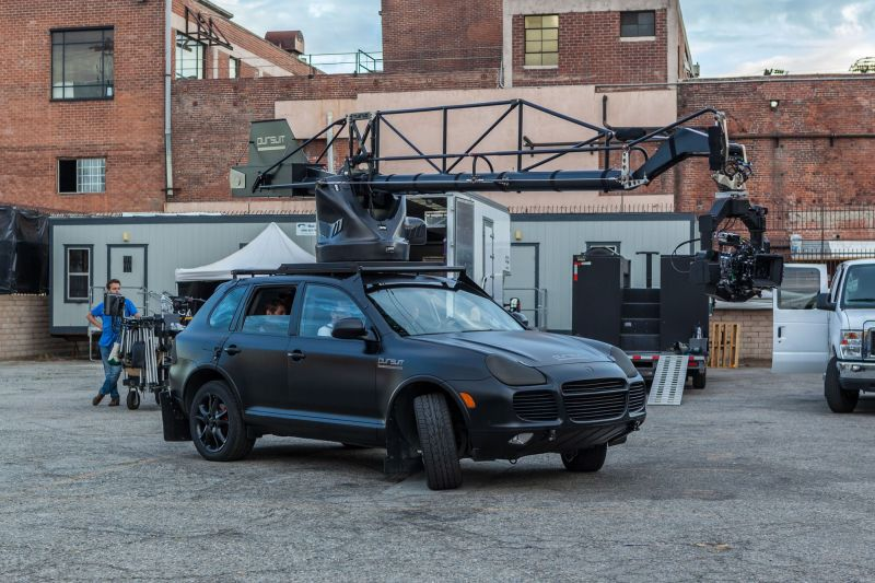 Porsche with Jib for the Mercedes Benz Commercial