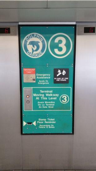 Dolphin Garage Elevator - Stamp your parking ticket here