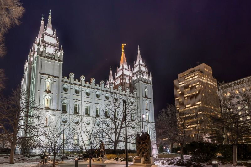 Salt Lake Temple by Night