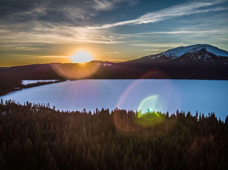 Sunset at Diamond Lake
