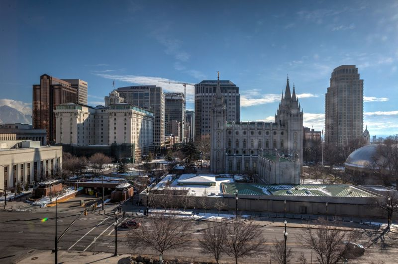Temple Square - View from the Convention Center