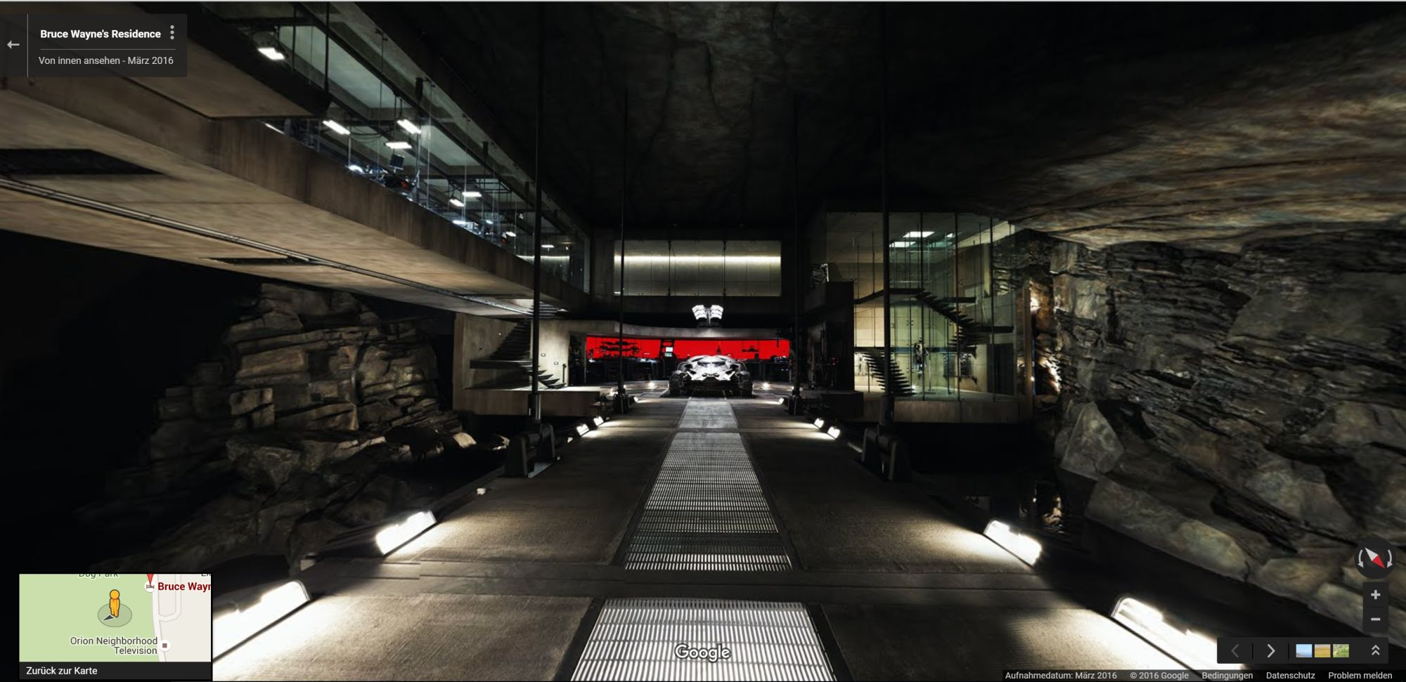 Explore the Batcave from Batman vs Superman