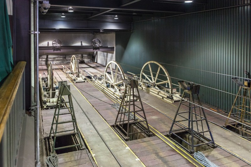 Tension Sheaves at the far end of the museum