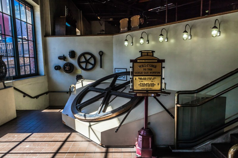 Entrance to the Cable Car Museum