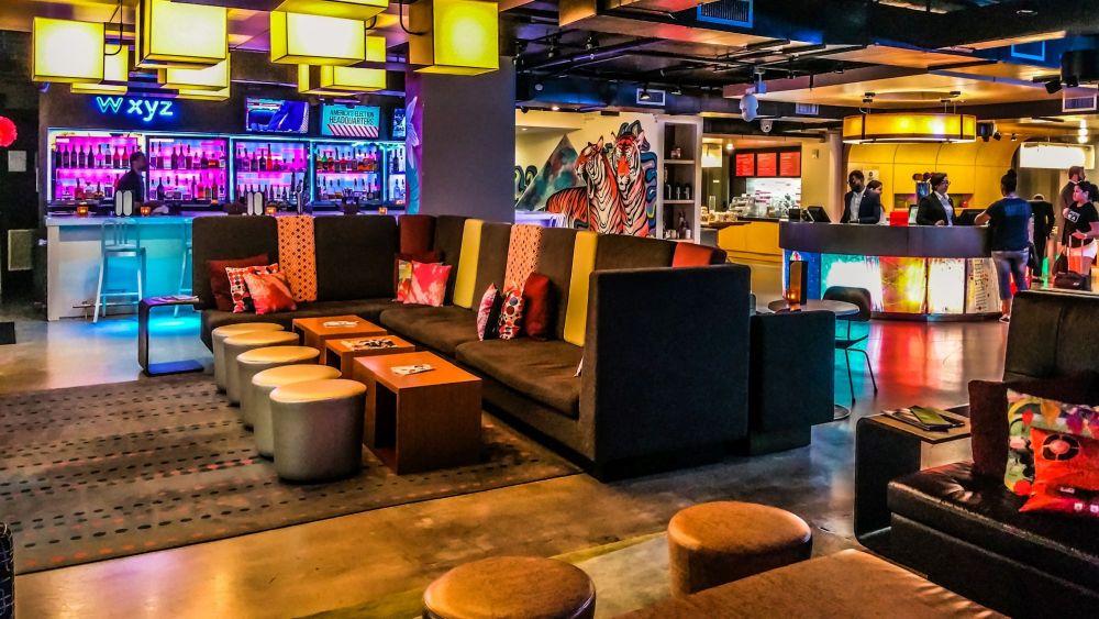 W xyz bar in the lobby