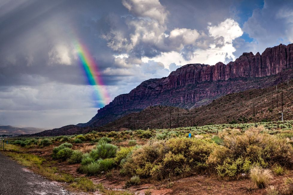 Rainbow near Moab