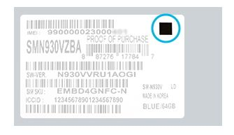Square Dot on Box indicates replacement Note 7