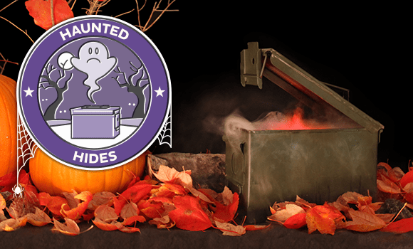 Geocaching Halloween Souvenir – Haunted Hides