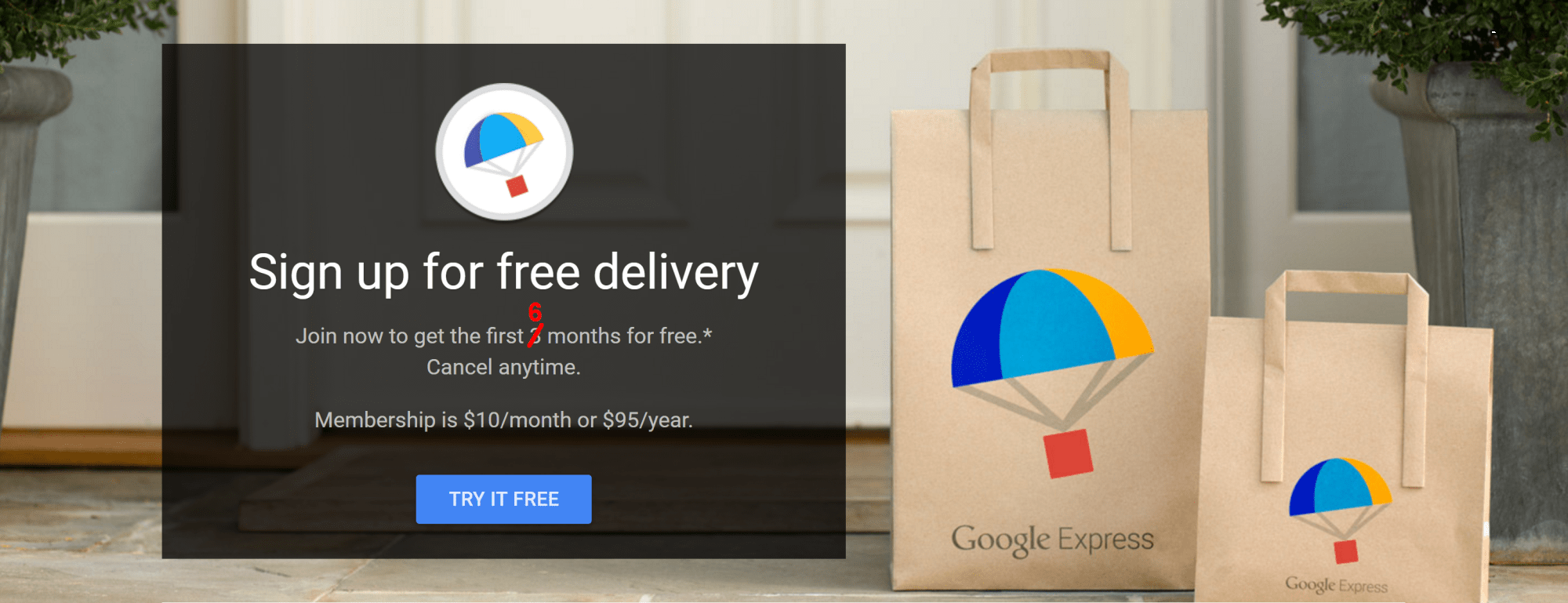 Today Only: Google Express Free Six-Month Trial (12/15/16)