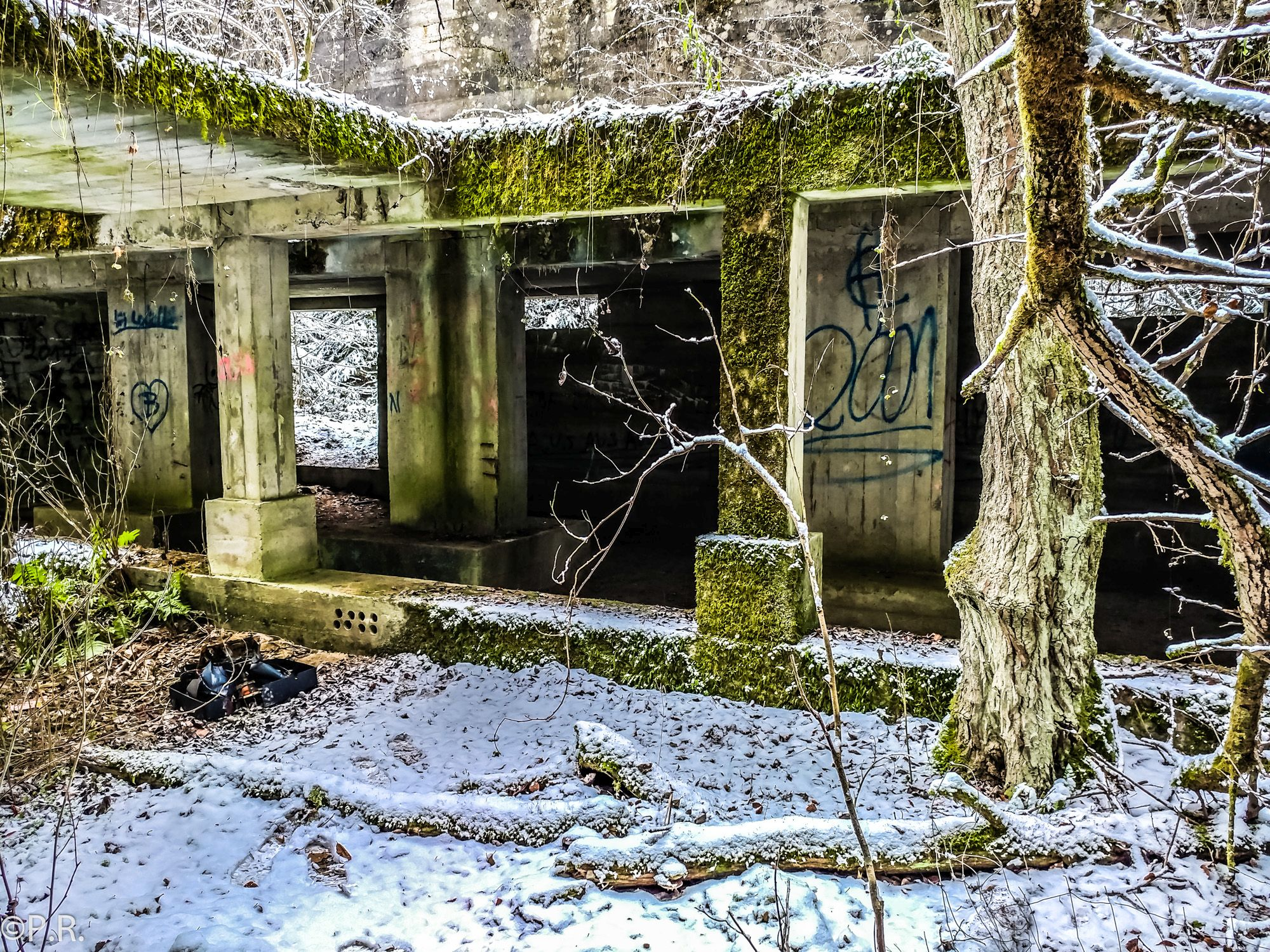 Geocaching: WiFo Buchenberg. Lost Places in a Forest near Ingolstadt