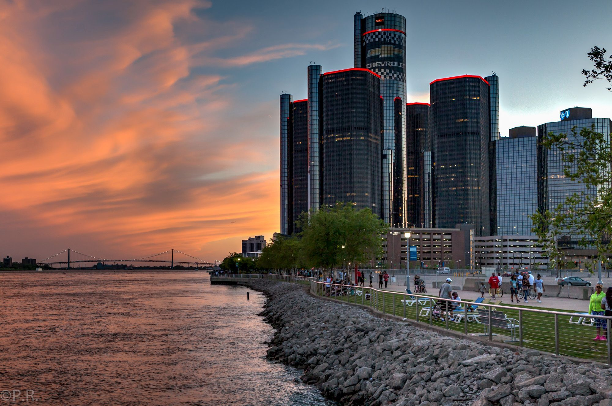 Photo of the Week: Sunset over the Detroit Riverwalk