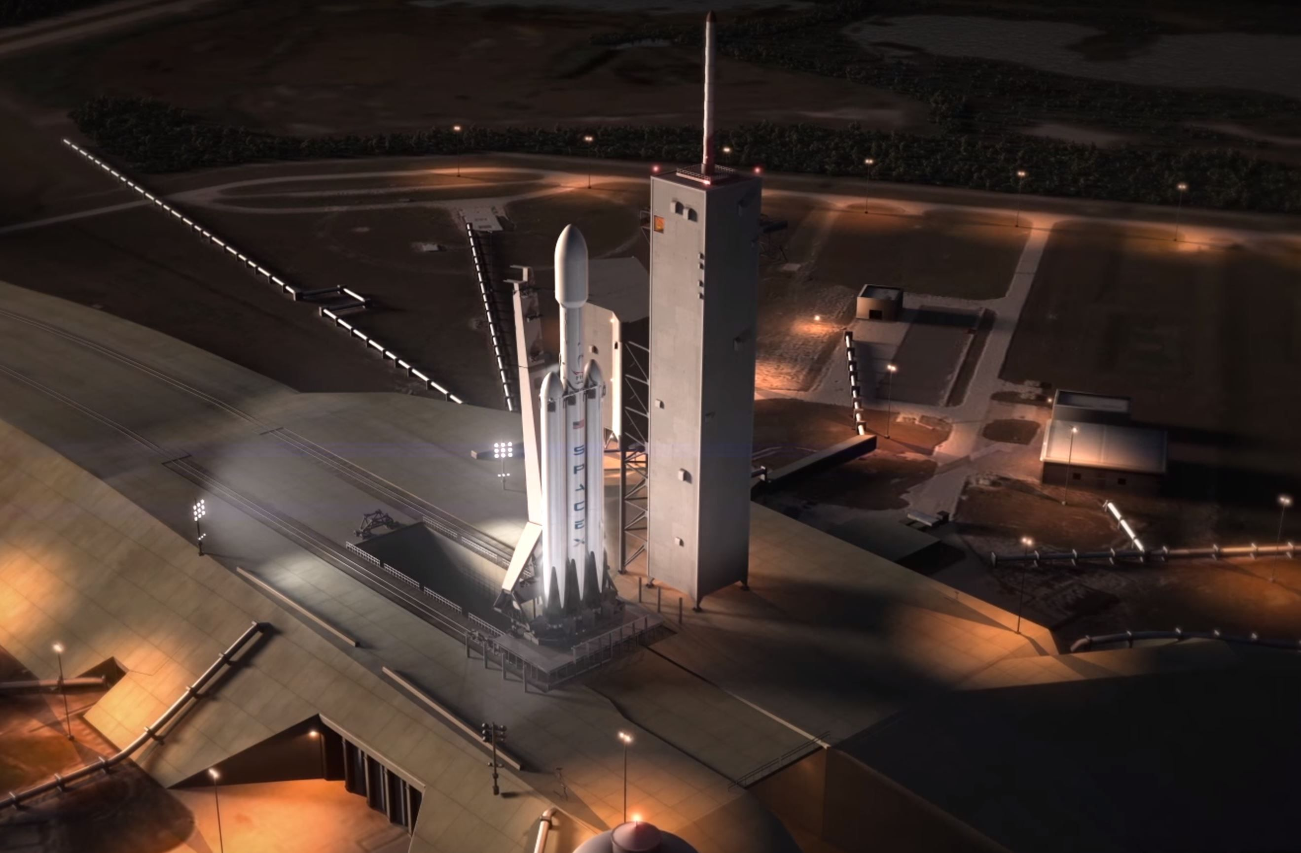 Launch Date for SpaceX Falcon Heavy set for February 6, 2018
