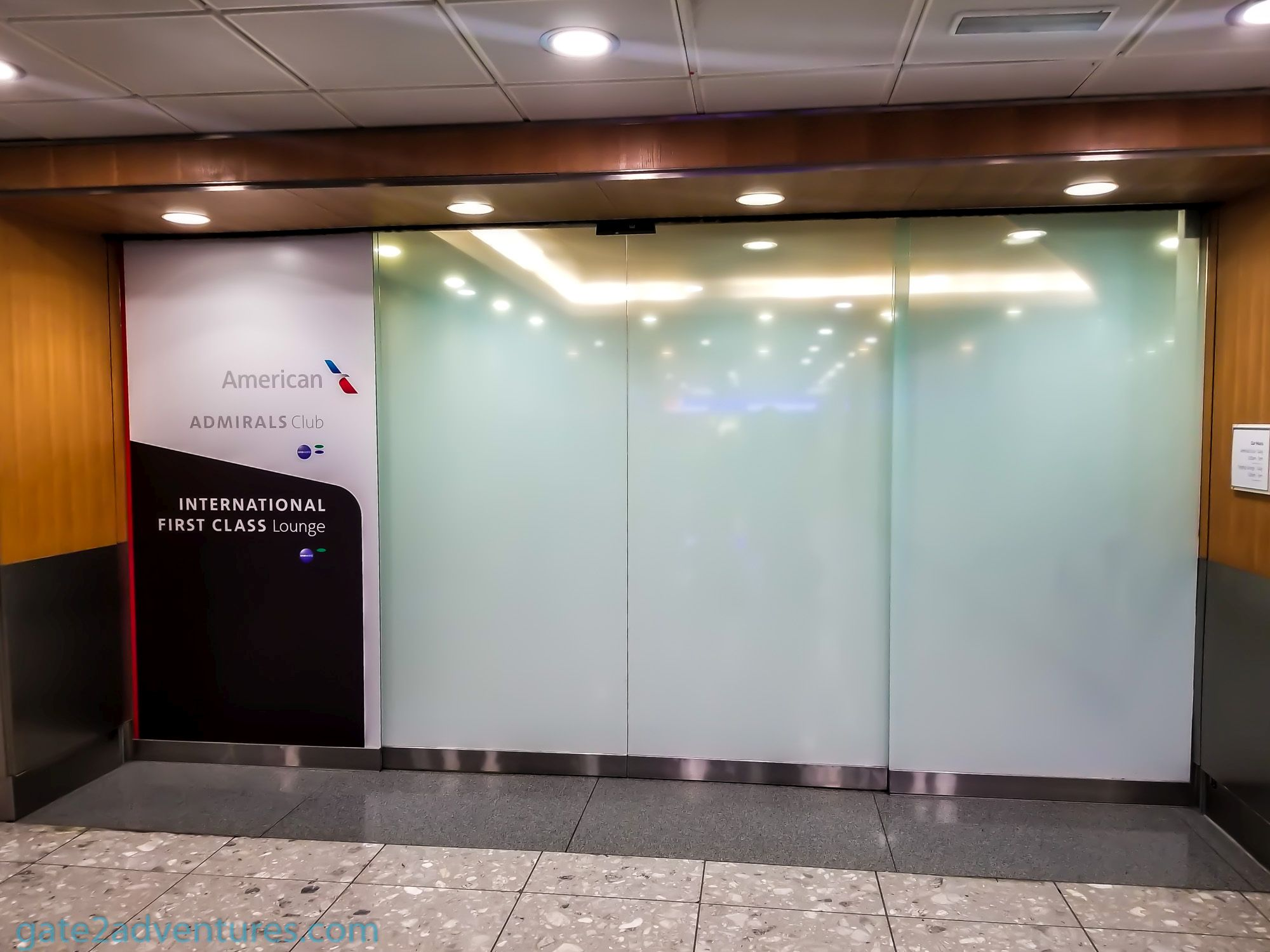 American Airlines International First Class Lounge London Heathrow