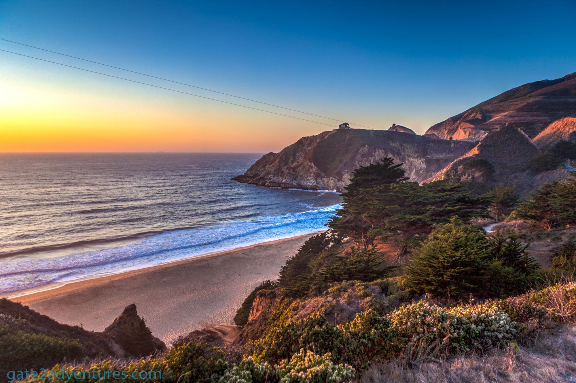 Photo of the Week: Sunset at Gray Whale Cove State Beach, California