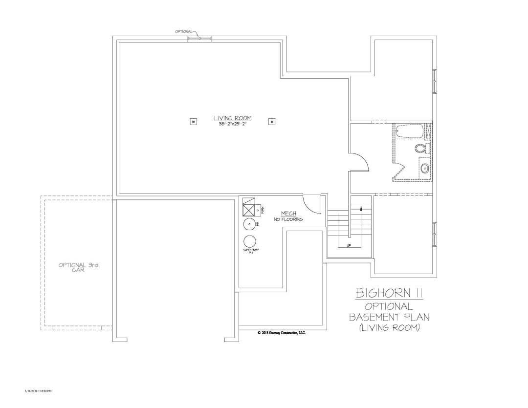 Bighorn II GL Basement Living Room Finish