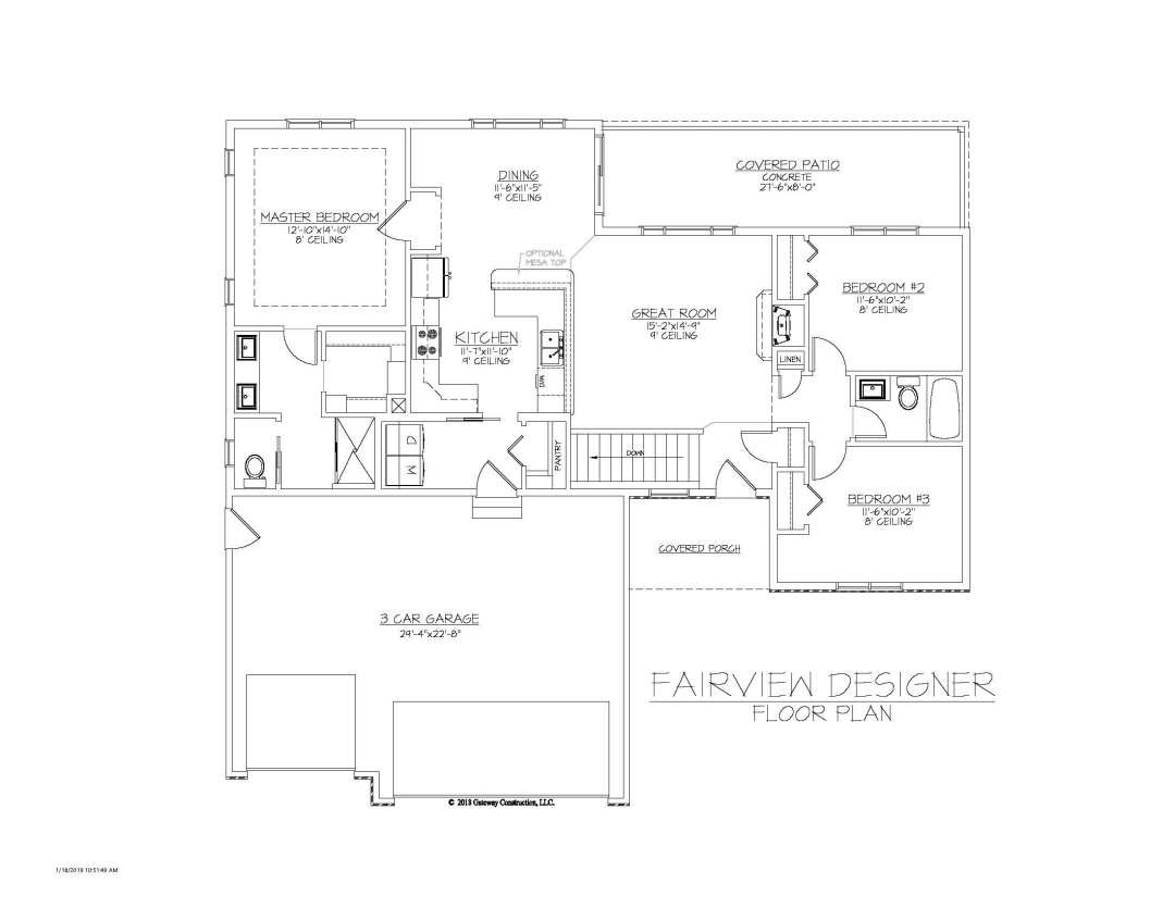 Fairview GL Fplan - D