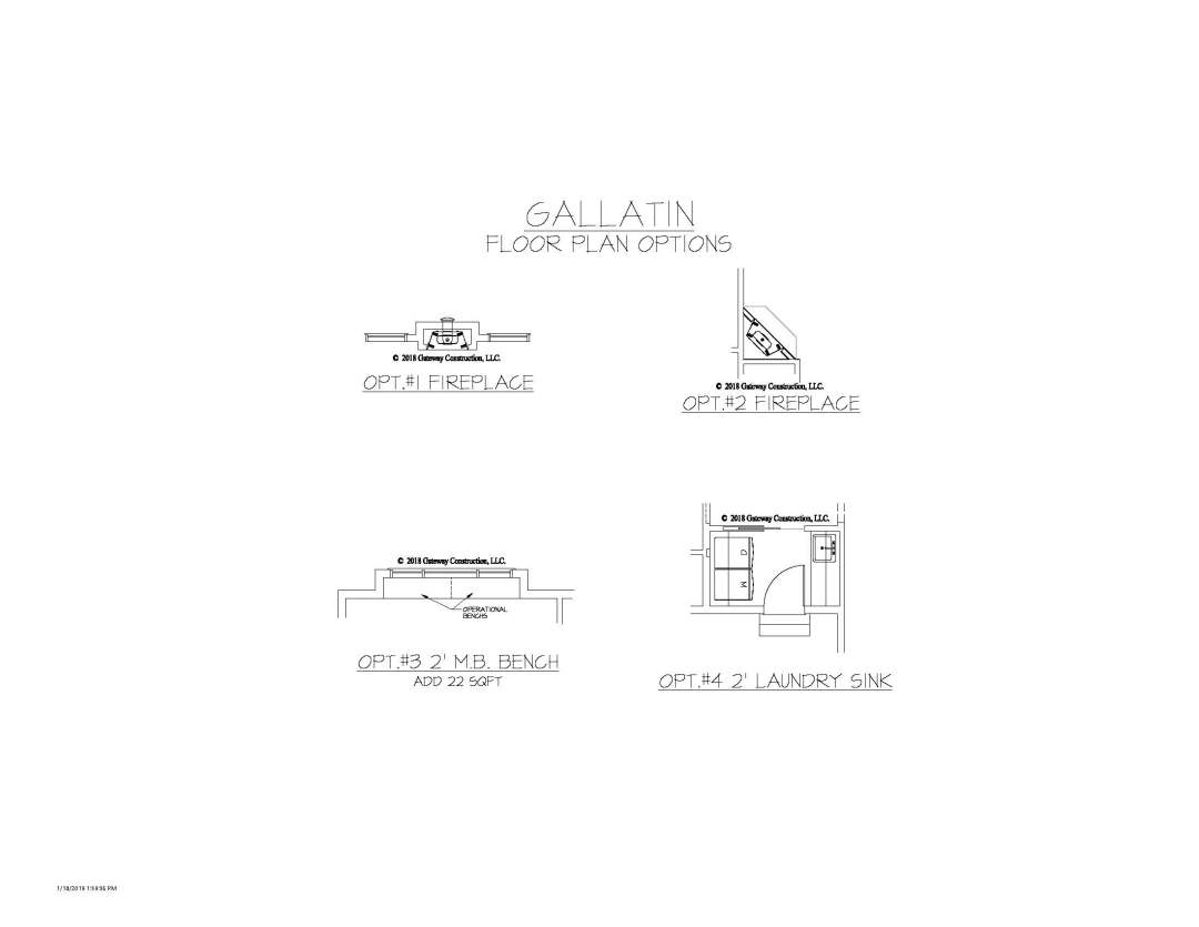 Gallatin GL Floor Plan Options