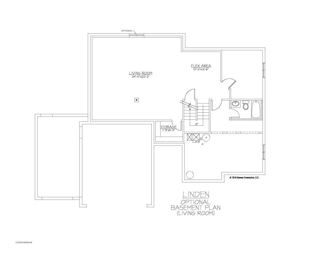 Maple GL Basement Living Room Finish