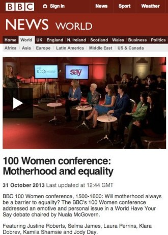 100 Women Motherhood Debate