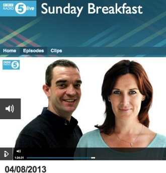 BBC R5 Live - Sunday 4 August Interview with Jody Day