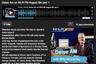Deise AM Radio Interview - Jody Day - 6 August 2013