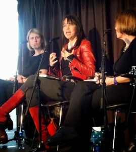 Jody Day (centre) speaking at Fertility Myths, WOW 2014