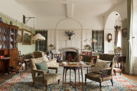 The Drawing Room at Standen, West Sussex.