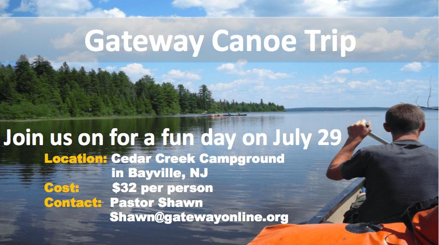 Saturday, July 29thwe are going canoeing!!!