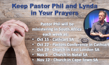 Keep Pastor Phil and Lynda in your prayers