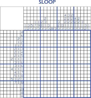2014-07-12 Pic-a-pix - Sloop puzzle