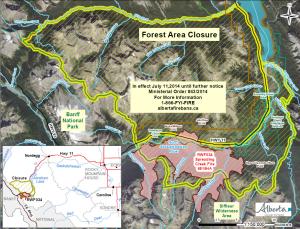 Alberta wildfires map
