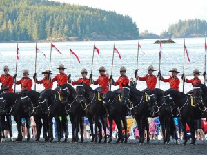 RCMP Musical Ride - Port Hardy BC 2013